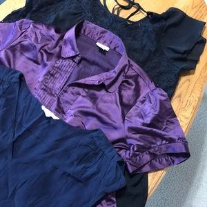 Collection of dressy maternity tops L-XL